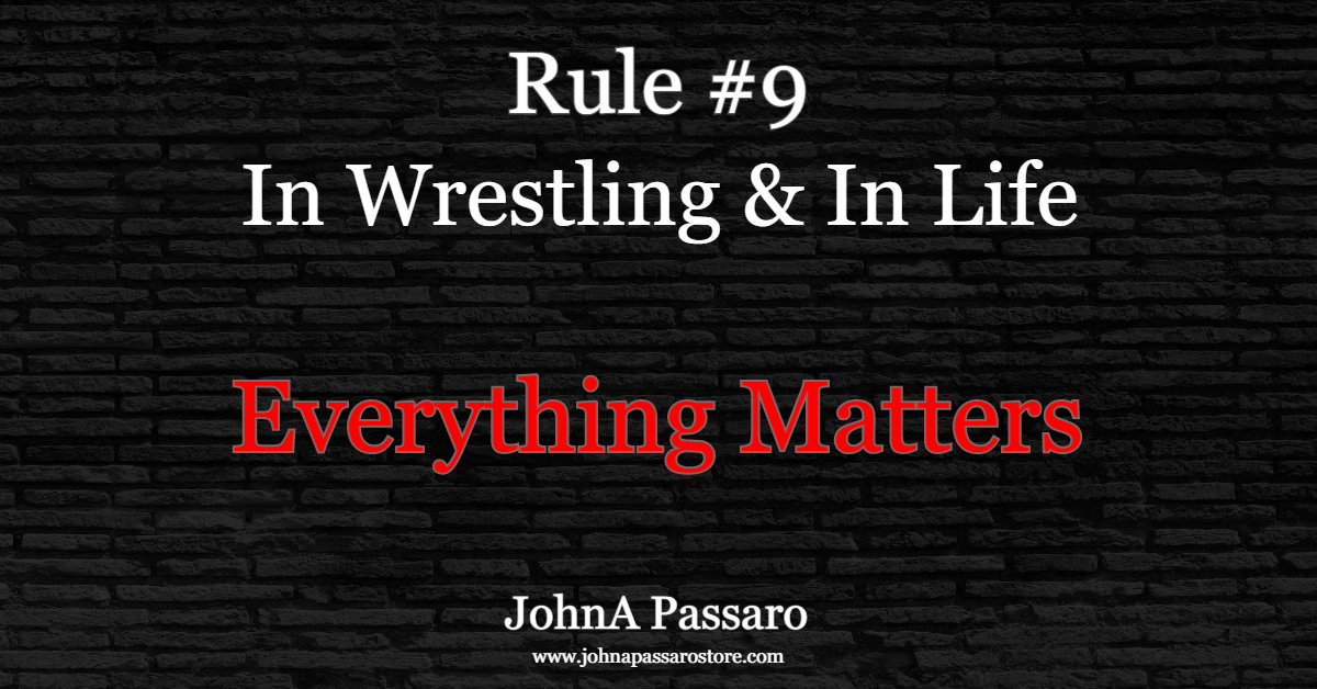 Rule #9 Everything Matters